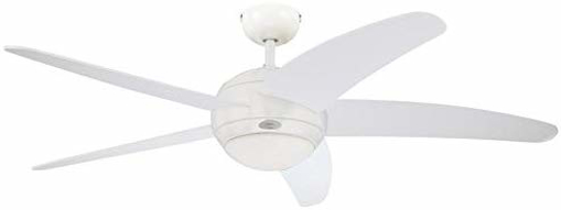Picture of BENDAN Ceiling Fan, Metal, R7s, 80 W, White finish with white blades
