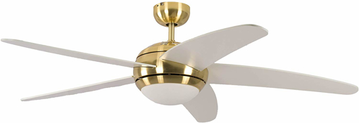 Picture of Ceiling Fan Melton Brass, Blades White Including Remote Control, 13422010132_v2, 60 W, 240 V