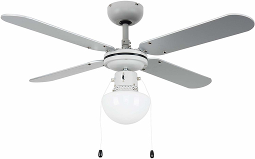 Picture of Modern Ceiling Fan with Light & Grey/Black Reversible Blades