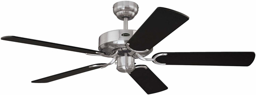 Picture of Cyclone 132 cm Brushed Steel Indoor Ceiling Fan