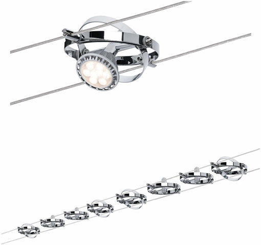 Picture of 941.53 Cardan LED Wire System Spot Lights - Tension Wire Lighting w/ 8 Rope Light Spot Heads