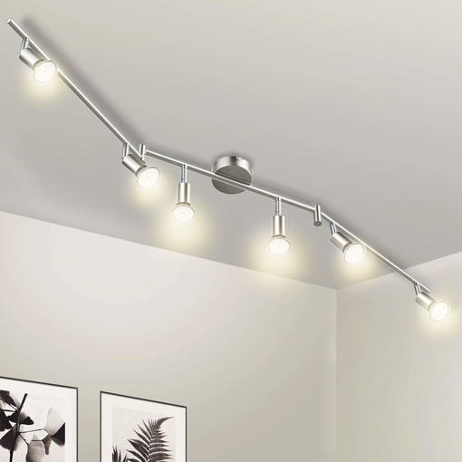 Picture of LED Ceiling Spotlight Rotatable 6 Way Swivelling 230V 6X LED GU10 5W 420Lm Warm White 2800K