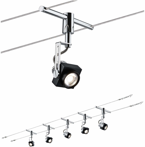 Picture of Wire System, Metal, Integriert, 5 W, Black, Chrome