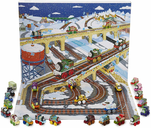 Picture of Kids Advent Calendar | Thomas The Tank Engine Minis Advent Calendar 2018 Includes 24 Gifts `