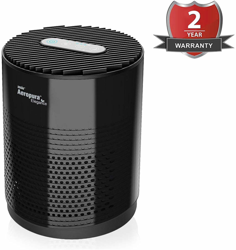Picture of ANSIO Air Purifier with True HEPA Activated Carbon Filter CADR 68 m³/h Pollen Pets Dander Cooking Dust Odours