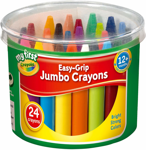 Picture of Easy Grip Jumbo Crayons designed for Toddlers, Pack of 24