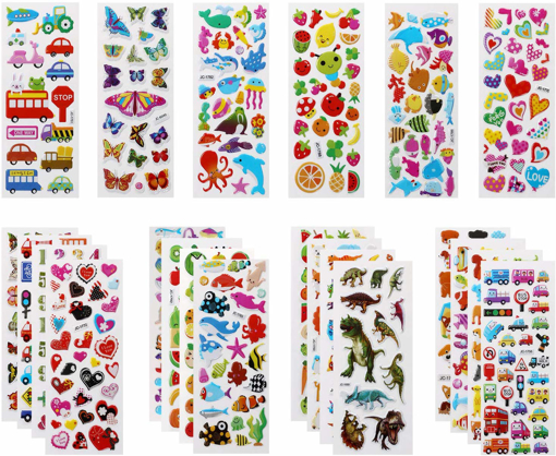 Picture of 3D Stickers for Kids Puffy Stickers 500+ children Stickers 22 Variety Sheets
