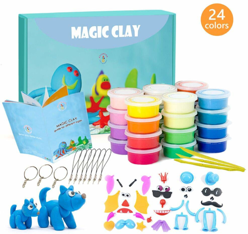 Picture of Modeling Clay Kit - 24 Colors Air Dry Ultra Light Magic Clay, Soft