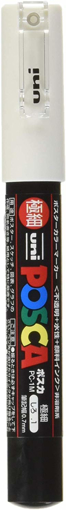 Picture of Posca Extra Fine Tip Marker - White PC-1M Single Marker