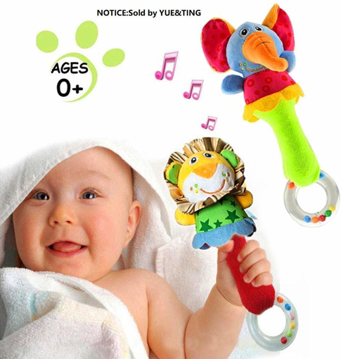 Picture of 2 Pack Rattles Shaker Soft Baby
