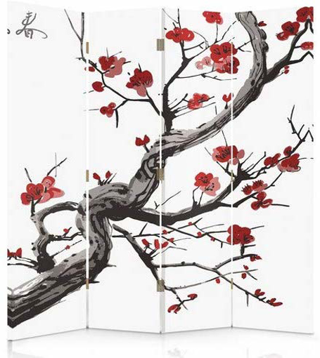 Picture of Canvas Screen, Decorative Room Divider, Paravent,
