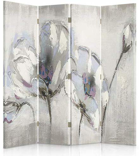 Picture of Decorative Room Divider, Paravent, Double sided, 360°, 4 panels (145x180 cm) FLOWERS,