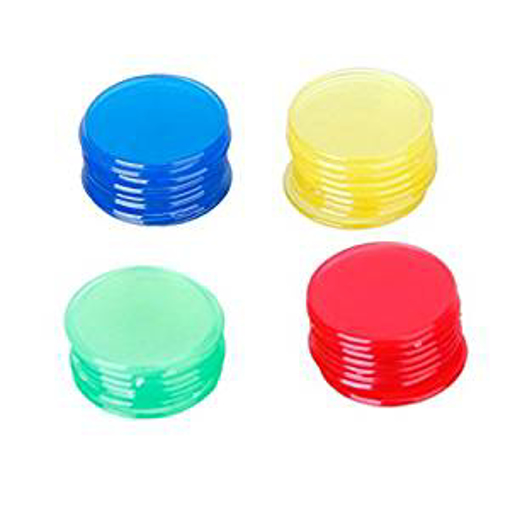 Picture of ROSENICE 400pcs Bingo Chips Counters Plastic Bingo Markers Set 4 Colors