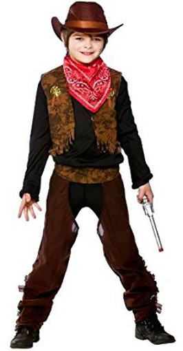 Picture of Cowboy Or Cowgirl Childrens Fancy Dress Costume Wild West Kids Outfit Ages 5/10