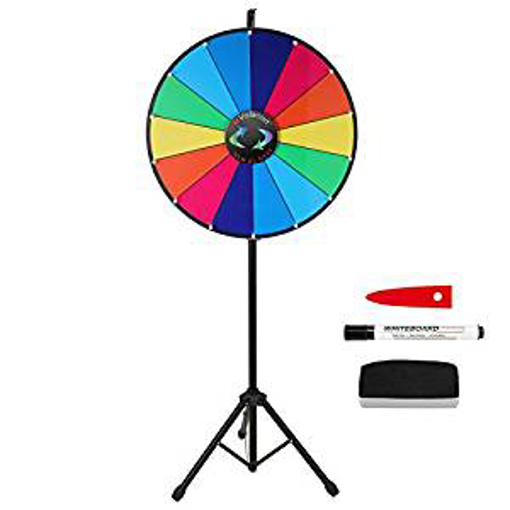 """Picture of Voilamart 24"""" 14 Slots Prize Wheel Floor Stand Dry Erase Wheel"""