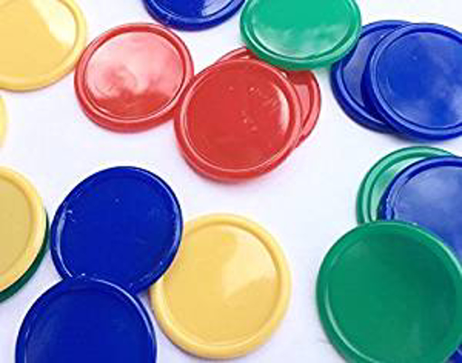 Picture of SSTNLTD 500 x TOKEN/DISC/POKER CHIPS/DRINK TOKENS / 4 COLOURS
