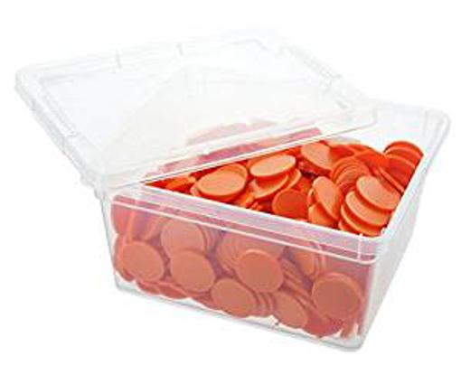 Picture of En-Joy blank plastic tokens - 500 coins - 29 mm - Orange