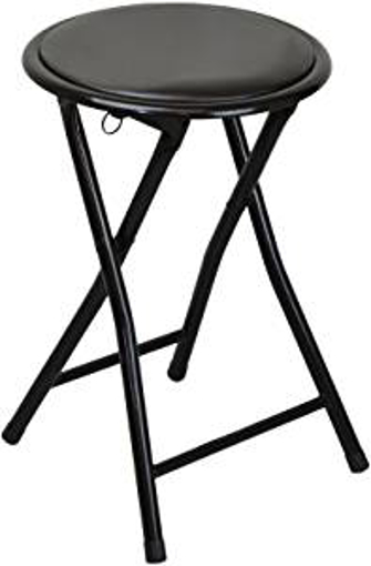 Picture of Harbour Housewares Round Compact Folding Stool - Black