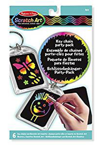 Picture of Melissa & Doug Scratch Art Key Chain Party Pack Activity Kit - 6 Key Chains