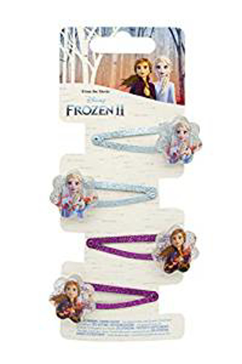 Picture of Joy Toy 755076 Disney Frozen-4 Shaped Hair Clips on a Backer Card 5x15 cm - Multicolor