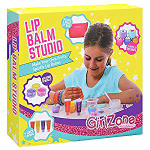 Picture of GirlZone: Make Your Own Lip Balm Fun Makeup Set For Girls - 22 Pieces