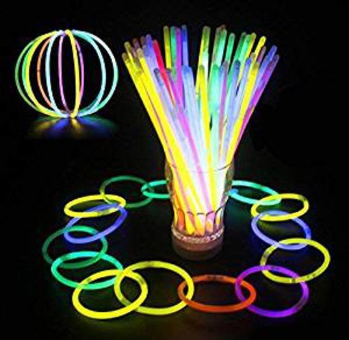 Picture of Glowz Glow Sticks Glow In The Dark Premium Bracelets (Mixed Colours) 100 Pack