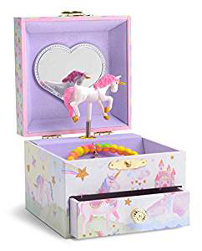 Picture of Jewelkeeper Musical Jewellery Box with Spinning Unicorn