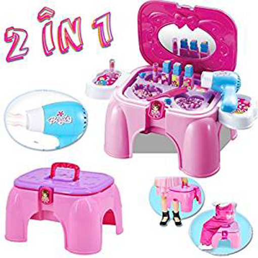 Picture of deAO 2-in-1 Vanity Dressing Table Play Set and Stool
