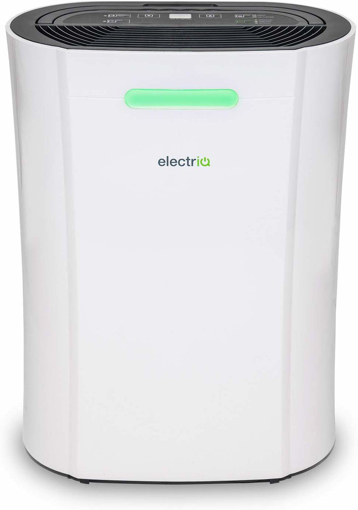 Picture of electriQ 12L Portable dehumidifier Great for 3 Bed Homes. Combats Condensation, Damp and Mould.