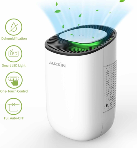 Picture of AUZKIN Dehumidifier 600ml Portable Damp Air Dehumidifiers Auto-Off Air Purifier Removing Damp and Mold for Home, Kitchen, Garage, Wardrobe, Basement