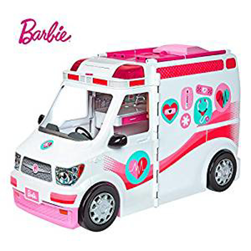 Picture of Barbie FRM19 Careers Care Clinic Ambulance - Play - Role Model