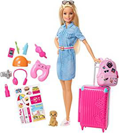 Picture of Barbie FWV25 Doll and Travel Set