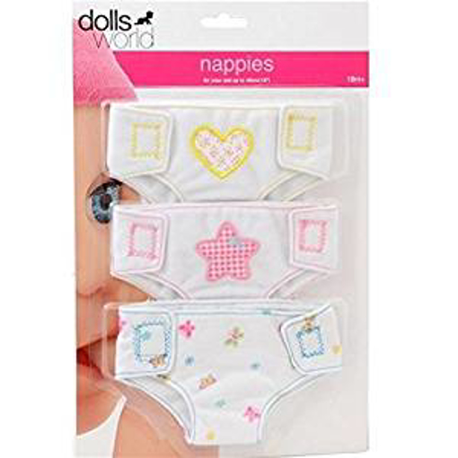 Picture of Dolls World Fabric Nappies