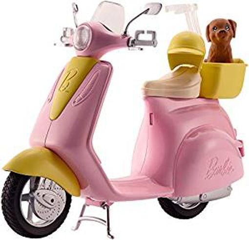 Picture of Barbie FRP56 ESTATE Mo-Ped Motorbike for Doll - Pink Scooter