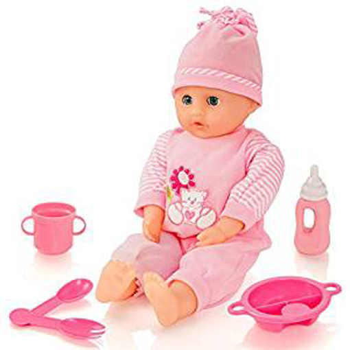 Picture of Molly Dolly Sweet Sounds Talking Girl Baby Doll & Accessories