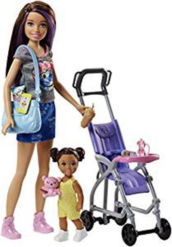Picture of Barbie FJB00 FAMILY Babysitter Brunette Doll