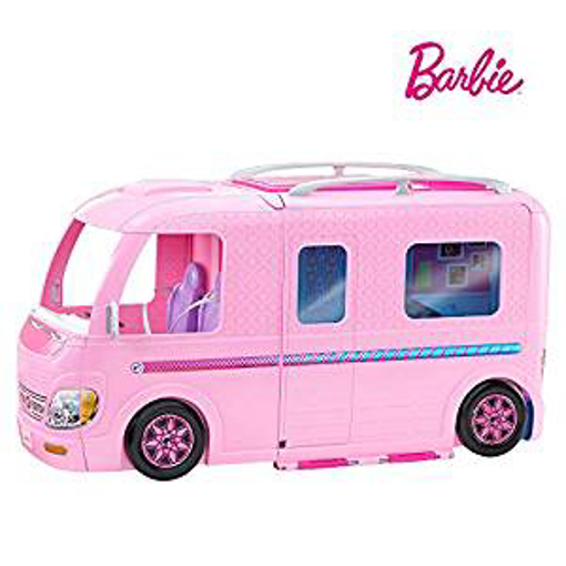 Picture of Barbie FBR34 ESTATE Dream Camper Pink Pop Out Caravan for Dolls
