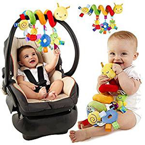 Picture of Pixnor Baby Spiral Activity Hanging Toys Stroller toys Cart Seat Pram Toy with Ringing Bell
