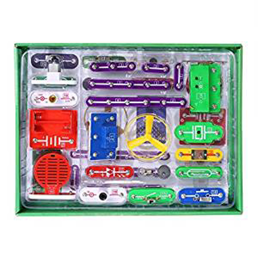 Picture of VFENG 335 Circuit Kits for Kids Circuit Experiment Kits Science Kits Electric Circuit Kits With 31 Snap parts Educational Science Kit Toy Boys Girls