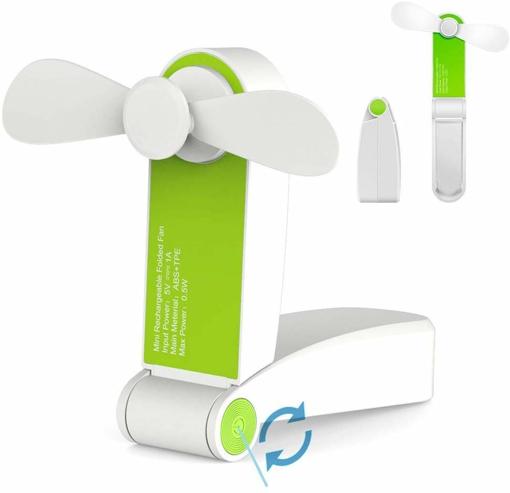 Picture of Handheld Mini Fan Portable Folding Pocket Fan USB Rechargeable Desk Fan Small Travel Fans for Home,