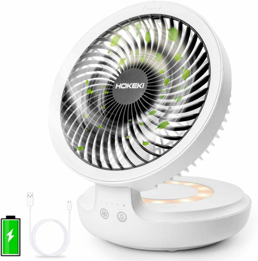 Picture of Desk Fan With Night Breathing Light Air Circulator