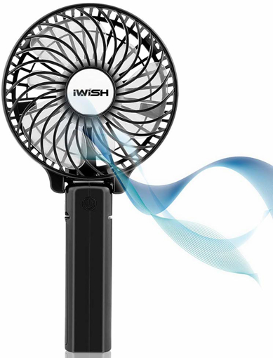 Picture of Mini Portable Fan, Electric Personal Handheld Folding Fans with USB Rechargeable Batteries for Kids