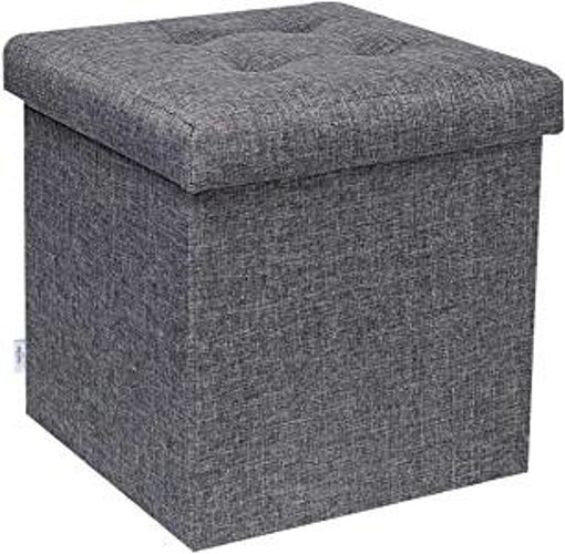 Picture of Bonlife Small Ottoman Folding Storage Ottoman Footstool Max Load 150 kg