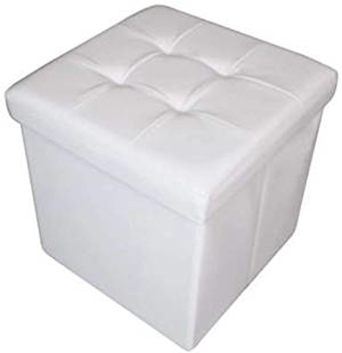 Picture of HomeHarmony® Quilted Top Folding Storage Ottoman Seat - Stool - Toy
