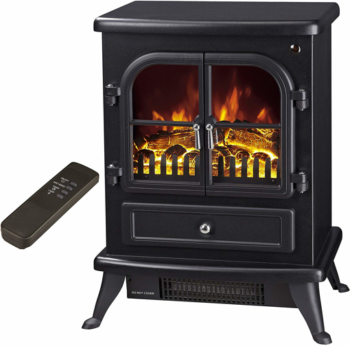 """Picture of """"Agena"""" Electric Stove with Remote Control - Realistic Flame Effect Stove - Portable"""