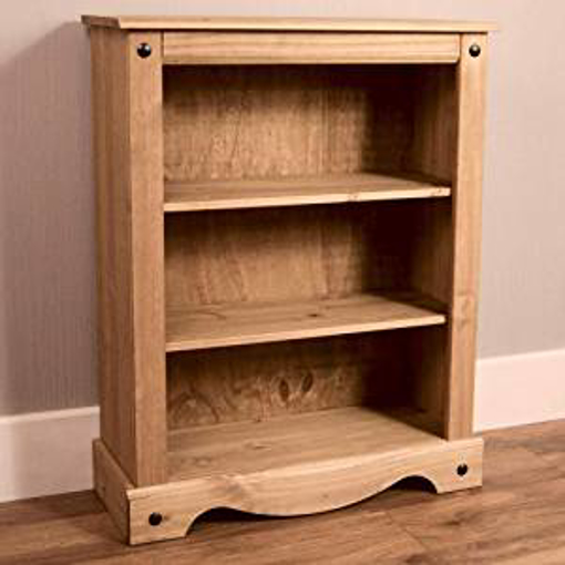 Picture of Vida Designs Corona Low Bookcase - Solid Pine Wood - Small