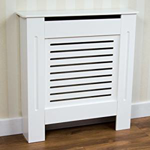 Picture of Vida Designs Milton Radiator Cover White Modern Painted MDF Cabinet - Small