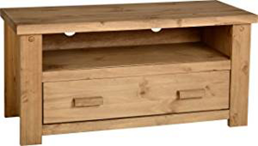 Picture of Seconique Tortilla 1 Drawer Flat Screen TV Unit - Distressed Waxed Pine - 514.95x1079.95x114.95 cm