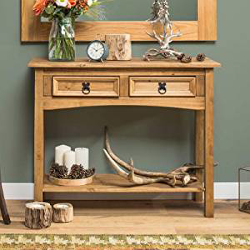 Picture of Mews Corona 2 Drawer Console Table - Wood - Beige