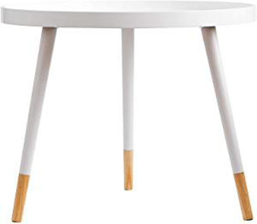 Picture of ASPECT Olga Round Wooden Side Table (White - 60 Dia X 48.5cm H) - 48.5 cm H